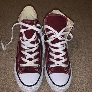 Maroon High Top Converse